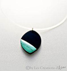 recycled vinyl record pendant necklace