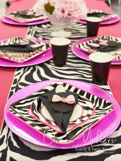 Zebra Minnie Mouse Birthday Party!     See more party ideas at CatchMyParty.com!  #partyideas #minniemouse