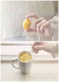 "FREE PHOTOSHOP ACTION.   ""lavender and lemons"" by True Atelier"