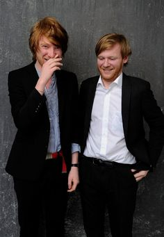 domhnall and brian gleeson... sons of actor brendan gleeson.