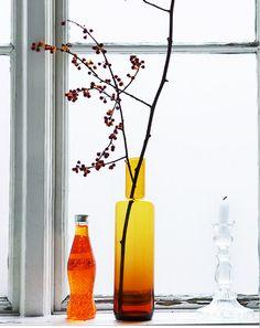 Orange colored glass