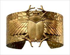 eriebasin:  Vintage Egyptian Revival Bracelet (in the online...