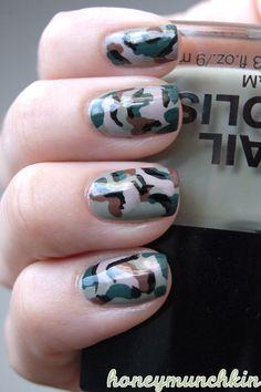 Camouflage Nails Nails, Camouflage Nailart, Camouflage Nails, Nailart Nailpolish, Camo Nails, Nails Polish, Nails Art Camouflage, Beauty, Nail Art