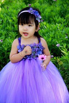 #GB Delphiniun Pearl Flower Girl Tutu Dress by PoshBabyStore.com
