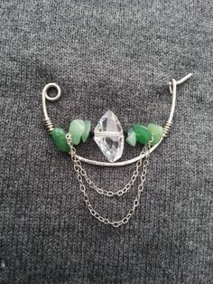 Sterling silver brooch german silver shawl pin scarf by Kapelika, $25.00