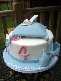 Cute Birthday Cake Cinderella themed