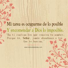 Dios se encarga de lo imposible