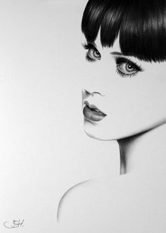 Katy Perry Pencil Drawing Fine Art Portrait by IleanaHunter, $9.99