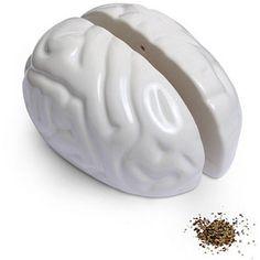Brain salt and pepper shaker at Think Geek = $9.99