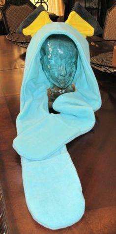 Pokemon Hychu fleece scarf hoodie with mittens ear hat in 6 sizes