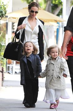 Mom of six #AngelinaJolie shopped Beverly Hills with her well-dressed twins, Vivienne and Knox. http://news.instyle.com/photo-gallery/?postgallery=50092#3