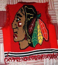 The Mighty Blackhawks Vest - CROCHET