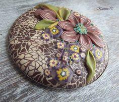 mozaikowe z kwiatem