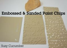 Emboss and sand paint chips for texture
