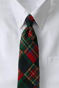 Men's Long Patchwork Wool Necktie