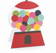 a2 Bubblegum Machine Shaped Card  | now 30% off in the Silhouette Online Store until July 31!