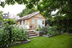 backyard, deck garden