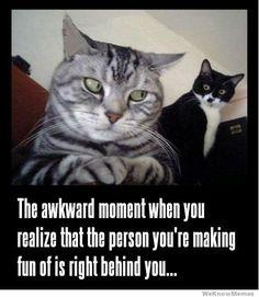 Awkward moment...