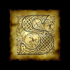 Celtic Letter S | Kristen Fox