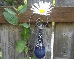 Hanging Vase Blue Glass