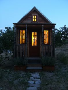 The lovely Tumbleweed epu. Links to tiny house building codes on tinyhouseblog.com