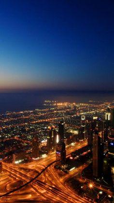 Dubai, Night, Beauty, City
