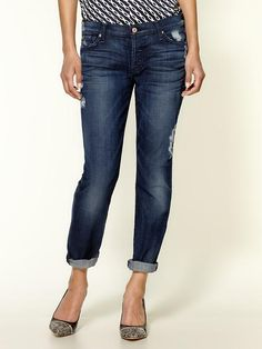 loving these distressed crops by 7 for all mankind - new for fall!