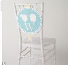 adorable party idea downloadable monogram silhouette place cards