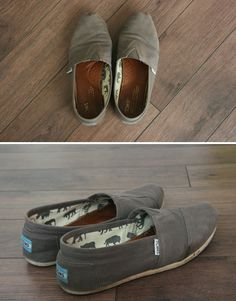 How to wash Toms shoes, I wore mine in the rain last weekend and now