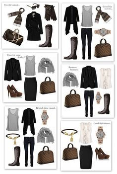 Mix & match staple pieces...hah! this is pretty much how I get dressed every day.