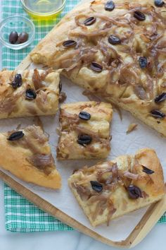 Caramelized Onion and Olive Focaccia