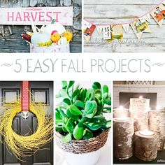 Be inspired for fall with these 5 simple diy projects! via maisondepax.com