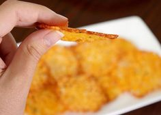 Low-Carb Snacks : Homemade Baked Cheese Crisps Recipe - Joyful Abode