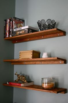 diy wall shelves. dreamgreendiy.com