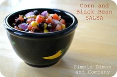 Corn and Black Bean Salsa - So good I ate it for days.