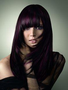 Beautiful Dark Purple Hair Color Ideas