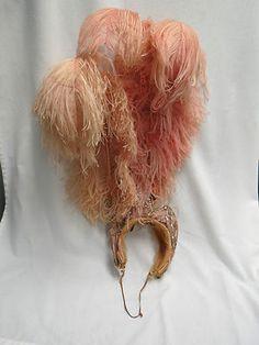 Ostrich Cabaret Showgirl Head Piece
