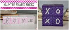 A Glimpse Inside: Easy Valentine Stamped Blocks