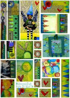 digital collage sheet