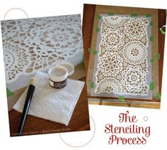 Stencil Process to Create a Winter Wonderland | Royal Design Studio