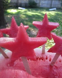 frozen watermelon pops for the 4th of july!