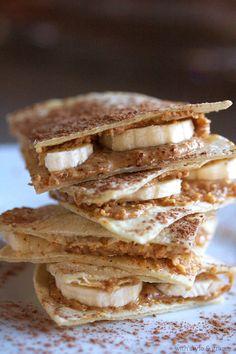 "Almond Butter & Banana ""Quesadilla"" // Gluten-free"