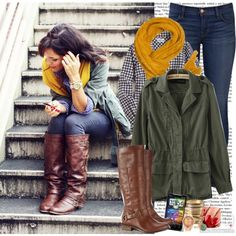 Cold weather outfit. So Cute by k-hearts-a on Polyvore