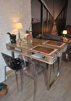 Stół do jadalni z europalet - zdjęcie