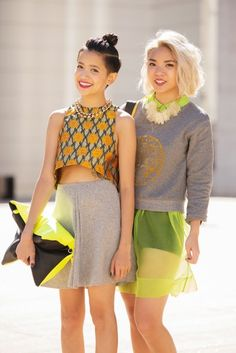 cute bloggers {color coordinated}