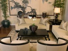 Sophisticated Japanese inspired living room
