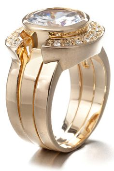 Fashion Victime Three Ring In Gold