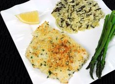 Parmesan Panko Crusted Baked Halibut