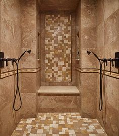 Large walk-in shower for two