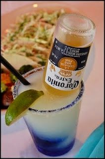 Is it Friday yet? Corona-Ritas - In a pitcher, combine equal parts (use the limeade can to measure): Frozen limeade concentrate, water, Sprite, tequila, and add one Corona.  Stir, serve, and be careful, cause these guys go down waaaay too easy!